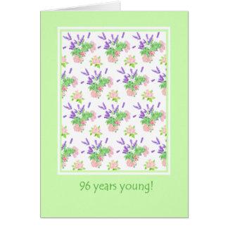 Pretty Floral 96th Birthday Greeting Card