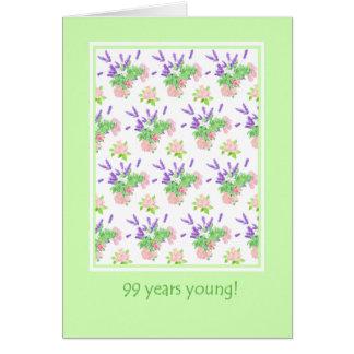 Pretty Floral 99th Birthday Greeting Card