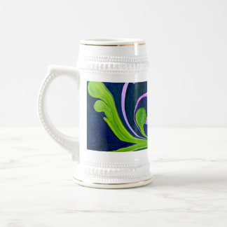 pretty floral abstract mug