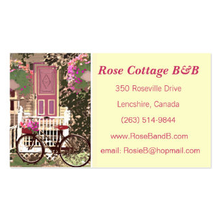 Pretty Floral  Bed & Breakfast / Cottage Rental Business Card Template