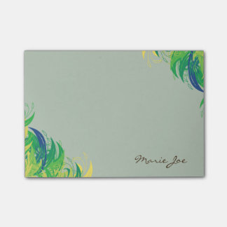 Pretty Floral Boarder Prints Personalized Post-it Notes