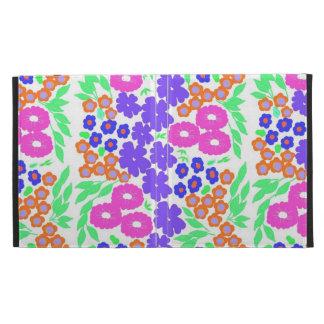 Pretty floral design iPad folio covers