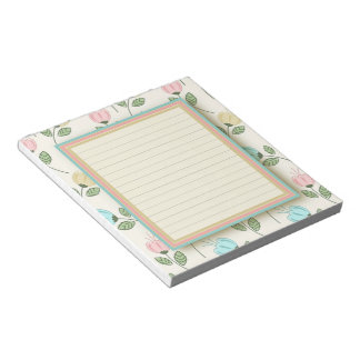 Pretty floral frame notepads