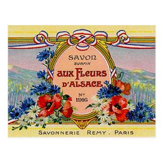 Pretty Floral French Vintage Aux Fleurs D'Alsace Postcard
