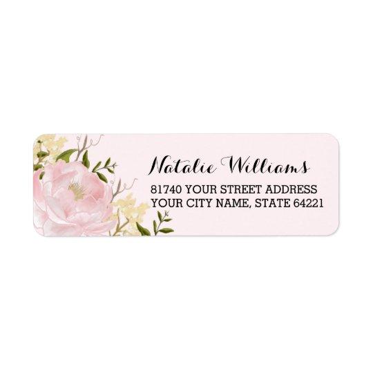 Pretty Floral Garden Return Address Labels