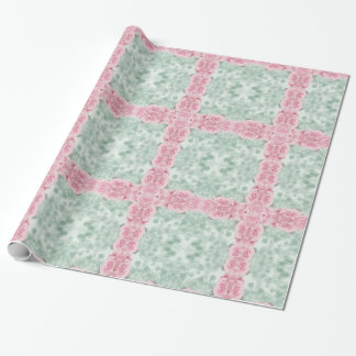 Pretty floral Green and Pink Wrapping Paper