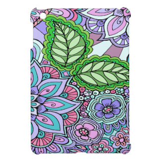 Pretty Floral Hand Drawn Doodle Pattern Cover For The iPad Mini