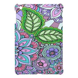 Pretty Floral Hand Drawn Doodle Pattern iPad Mini Covers