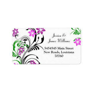 pretty floral Label