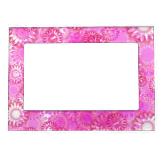 Pretty floral. magnetic frame