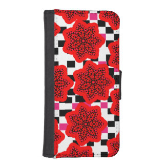 Pretty Floral Mix Pink Red Black and White