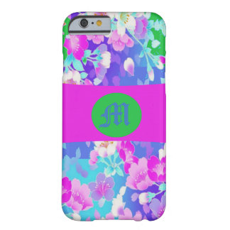 Pretty Floral Monogrammed Iphone Case