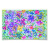 pretty floral pastel photo print