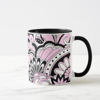 pretty floral pattern in zen style mug