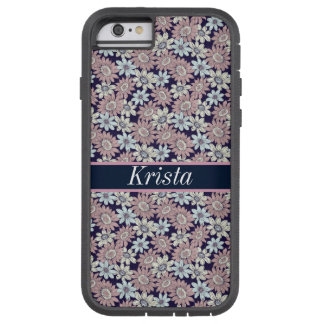 Pretty Floral Pattern w/Full Name Monogram Tough Xtreme iPhone 6 Case