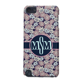 Pretty Floral Pattern w/Initial Monogram iPod Touch (5th Generation) Cover