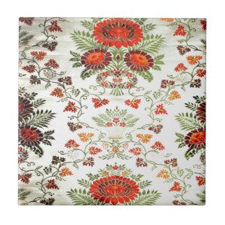 Pretty floral print tile