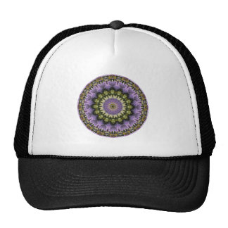 "Pretty Floral ""Purple Lilac Mandala"" Cap"