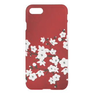 Pretty Floral Red White Cherry Blossom iPhone 7 Case
