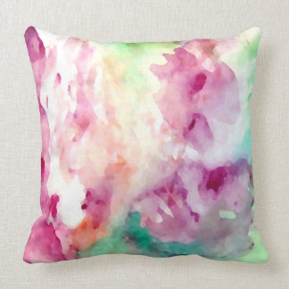 Pretty Floral Watercolor Abstract Pastel Pillows