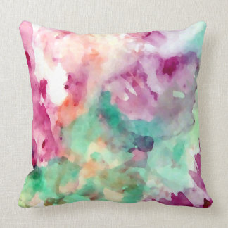 Pretty Floral Watercolor Abstract Pillows