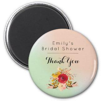 Pretty Floral Watercolor Bouquet Bridal Shower Magnet