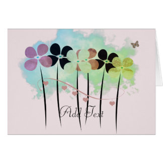 Pretty Floral Watercolor Style Card