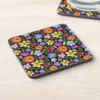 Pretty Floral Watercolour Pattern Coasters
