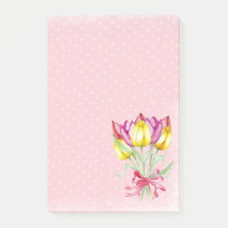 Pretty Flower Design Post it notes