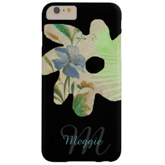 pretty flower illustration with name & initial barely there iPhone 6 plus case