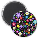Pretty Flower pattern 6 Cm Round Magnet