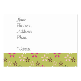 Pretty Flower Pattern Pink and Green Gifts Pack Of Chubby Business Cards