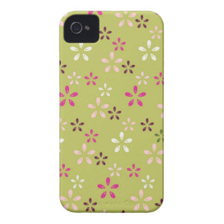 Pretty Flower Pattern Pink and Green Gifts iPhone 4 Case-Mate Case