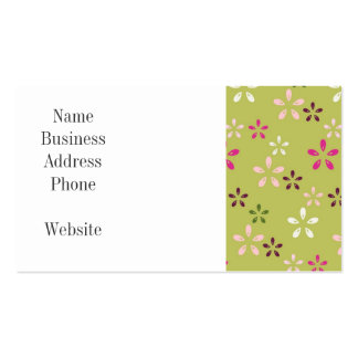 Pretty Flower Pattern Pink and Green Gifts Pack Of Standard Business Cards