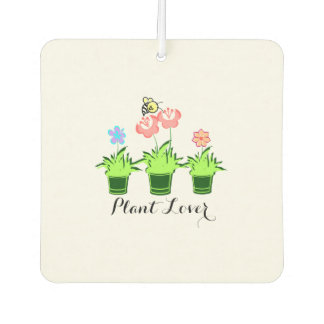 """Pretty Flower Plants"" Car Air Freshener."