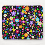 Pretty Flower Star Mouse Pad