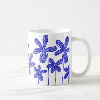 Pretty Flowers - Blue Classic White Coffee Mug