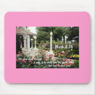 Pretty flowers garden Christian bible verse photo Mouse Pad
