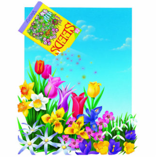 Pretty Flowers Gardening Design Cut Outs