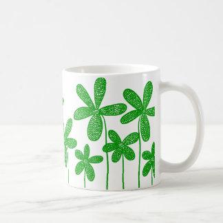 Pretty Flowers - Green Classic White Coffee Mug