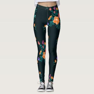 pretty flowers leggings