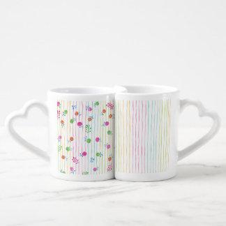 Pretty Flowers Lovers' Mug Set Lovers Mug Sets