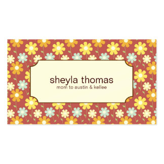 Pretty Flowers Mommy Calling Cards Pack Of Standard Business Cards