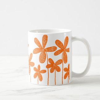 Pretty Flowers - Orange Classic White Coffee Mug