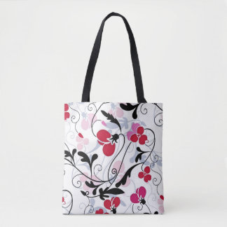 Pretty Flowers Pattern Tote Bag