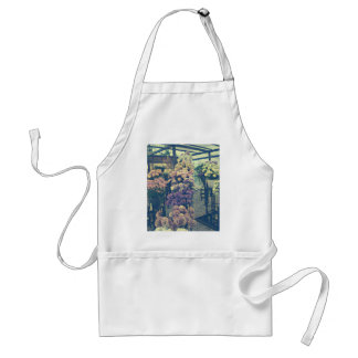 Pretty flowers purple and pink standard apron
