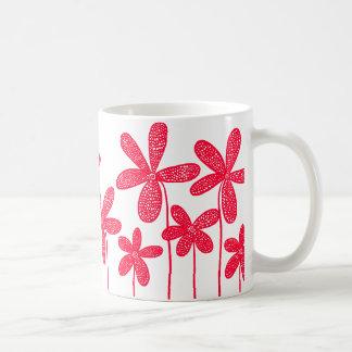 Pretty Flowers - Red Basic White Mug