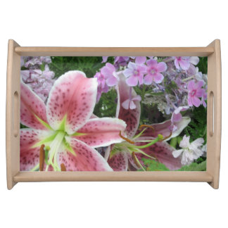 Pretty Flowers Serving Tray