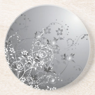 Pretty Flowers Under the Moon Coasters