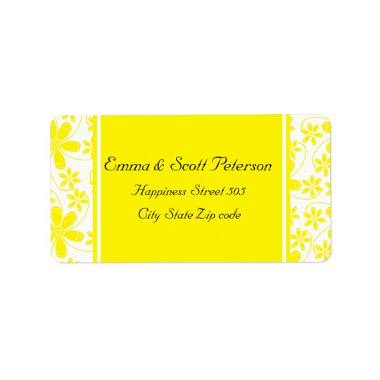 Pretty Flowers Wedding Return Address Label